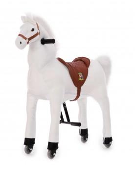 Cheval blanc à monter Equitation  –Serpent à Lunettes