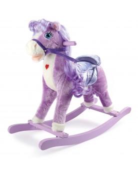 Cheval à bascule «Poney violet» Jouets à bascule  –Serpent à Lunettes