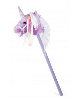 Cheval bâton «Licorne violette» Créatures imaginaires  –Serpent à Lunettes