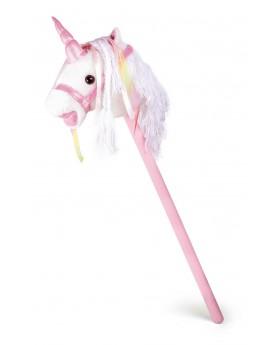 Cheval bâton «Licorne blanche» Créatures imaginaires  –Serpent à Lunettes