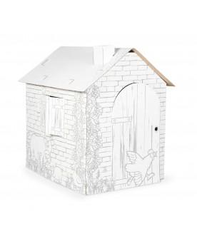 """Maison de jeu à colorier en carton \\""""Cabane\\"""" Maisons de jeux  –Serpent à Lunettes"""