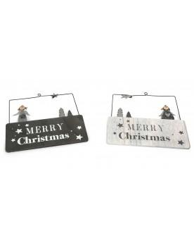 """Plaque décorative \\""""Merry Christmas\\"""" Autour de l'enfant  –Serpent à Lunettes"""