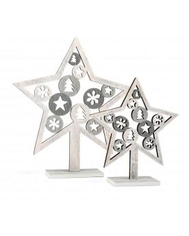 Étoiles de décoration «Motif de Noël» Noël  –Serpent à Lunettes
