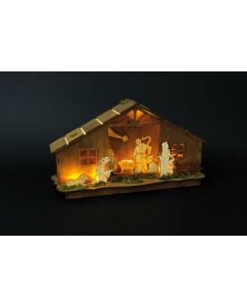 Lampe Crèche Noël  –Serpent à Lunettes