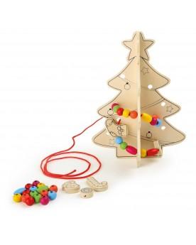 Sapin avec déco à enfiler Noël  –Serpent à Lunettes