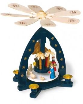 Pyramide de Noël avec crèche Noël  –Serpent à Lunettes