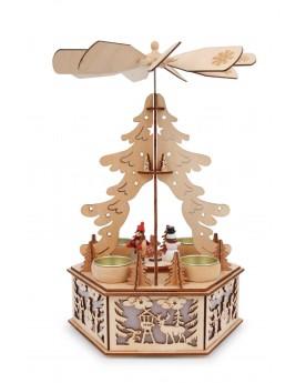 """Lampe \\""""Pyramide d'hiver\\"""" Noël  –Serpent à Lunettes"""