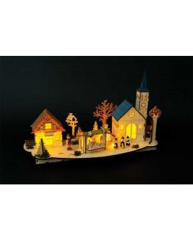 Lampe «Vieille ville» Noël  –Serpent à Lunettes