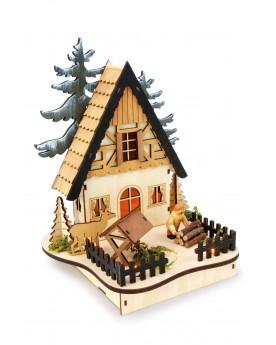 Lampe «Maison des bois» Noël  –Serpent à Lunettes