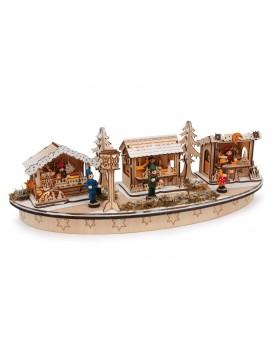 Lampe «Marché de Noël » Noël  –Serpent à Lunettes
