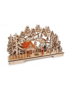Lampe «Paysage forestier» Noël  –Serpent à Lunettes