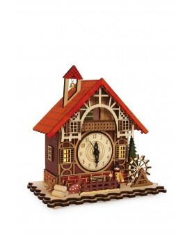 """Horloge \\"""" Maison à colombages \\"""" Maison  –Serpent à Lunettes"""
