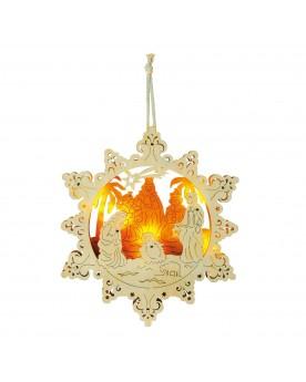 Lampe «Crèche d'étoile» Noël  –Serpent à Lunettes