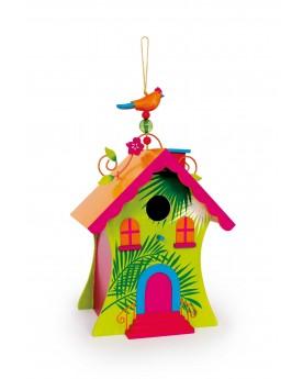 """Maison à oiseaux \\"""" Hawaii \\"""" Jardin  –Serpent à Lunettes"""