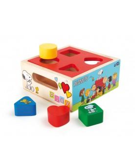 """Cube à encastrer \\""""Peanuts\\"""" Jouets à empiler ou encastrer  –Serpent à Lunettes"""