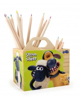 Shaun le mouton Boîte à crayons Vie pratique  –Serpent à Lunettes