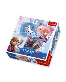 """Puzzle 3 en 1 \\""""La Reine des neiges\\"""" Puzzles  –Serpent à Lunettes"""
