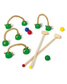 """Croquet \\""""Grenouille\\"""" Jeux de boule et de quilles  –Serpent à Lunettes"""