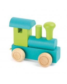 Train de lettres Locomotive, vert & pétrole Lire, écrire, compter  –Serpent à Lunettes