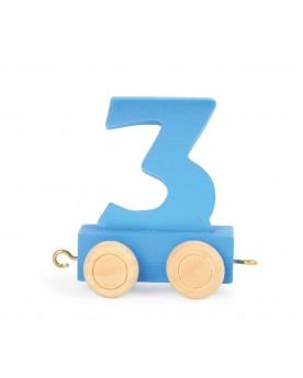 Train de chiffres coloré 3  Lire, écrire, compter  –Serpent à Lunettes