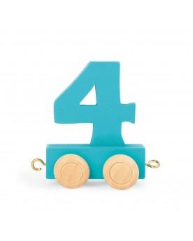 Train de chiffres coloré 4  Lire, écrire, compter  –Serpent à Lunettes