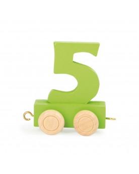 Train de chiffres coloré 5  Lire, écrire, compter  –Serpent à Lunettes