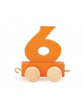 Train de chiffres coloré 6  Lire, écrire, compter  –Serpent à Lunettes