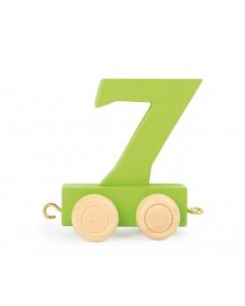 Train de chiffres coloré 7  Lire, écrire, compter  –Serpent à Lunettes