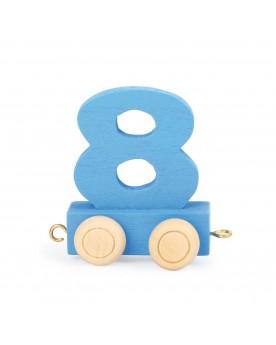 Train de chiffres coloré 8  Lire, écrire, compter  –Serpent à Lunettes