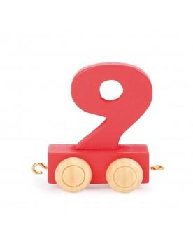 Train de chiffres coloré 9  Lire, écrire, compter  –Serpent à Lunettes