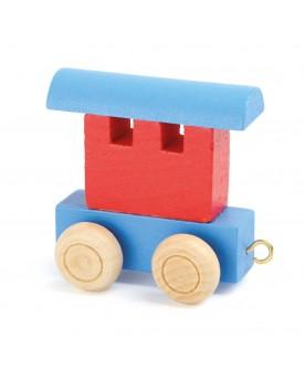 Train de lettres Wagon, rouge & bleu Lire, écrire, compter  –Serpent à Lunettes