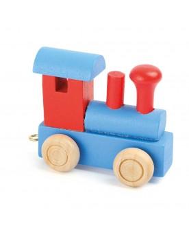 Train de lettres Locomotive, rouge & bleu Lire, écrire, compter  –Serpent à Lunettes