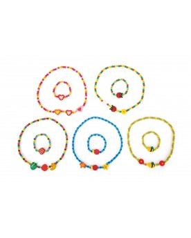 Colliers de perles bariolés Coiffure, maquillage et bijoux  –Serpent à Lunettes
