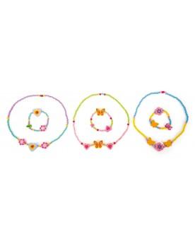 Colliers de perles pastel Coiffure, maquillage et bijoux  –Serpent à Lunettes