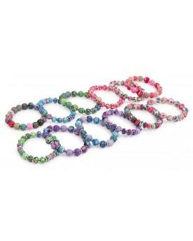 Bracelet «Fimo perles» Coiffure, maquillage et bijoux  –Serpent à Lunettes