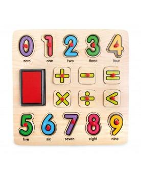 Tampons et puzzle Mathématiques Tampons, peinture, création  –Serpent à Lunettes
