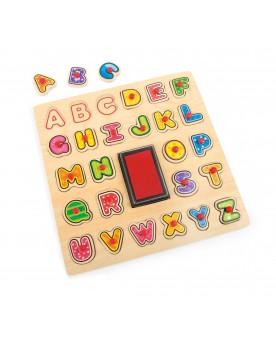 Tampon et puzzle ABC Tampons, peinture, création  –Serpent à Lunettes