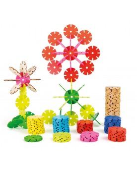 Jeu d'assemblage «Petites fleurs» Jouets à assembler  –Serpent à Lunettes