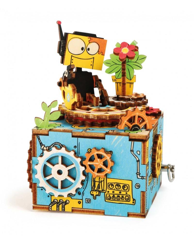 Kit de construction boîte à musique «Robot» Loisirs créatifs, construction, science  –Serpent à Lunettes