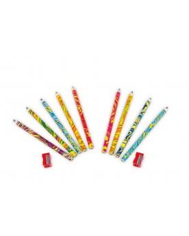 Crayons de couleurs «Arc-en-ciel» Papeterie et fournitures scolaires  –Serpent à Lunettes