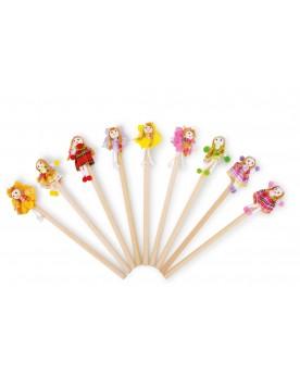 Crayons «Fillette aux fleurs» Papeterie et fournitures scolaires  –Serpent à Lunettes