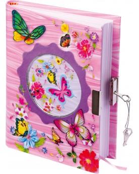 Journal intime «Papillon» Papeterie et fournitures scolaires  –Serpent à Lunettes