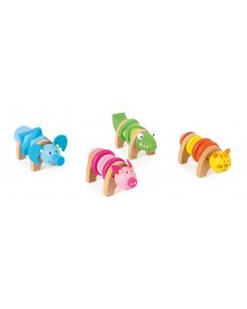 Animaux à assembler colorés Jouets de motricité  –Serpent à Lunettes