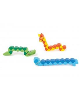 Animaux flexibles Jouets de motricité  –Serpent à Lunettes