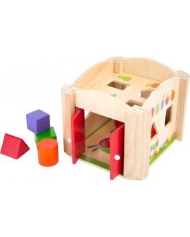 """Cube à formes \\""""La chenille qui fait des trous\\"""" Jouets à empiler ou encastrer  –Serpent à Lunettes"""