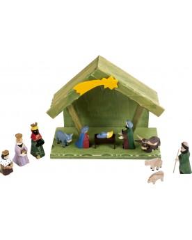 Crèche avec figurines Noël  –Serpent à Lunettes