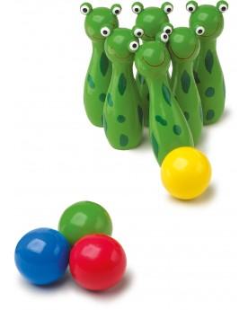 Quilles «Grenouille» Jeux de boule et de quilles  –Serpent à Lunettes