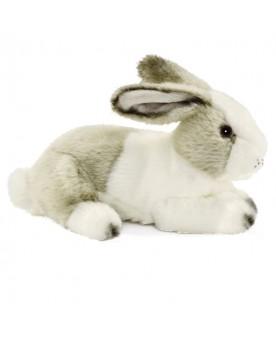 Lapin blanc / gris couché 24 cm HANSA  –Serpent à Lunettes