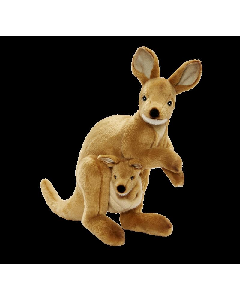 Wallaby avec bébé 35 cm Hansa  –Serpent à Lunettes