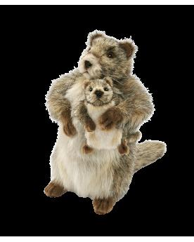 Marmotte avec bébé 33 cm HANSA  –Serpent à Lunettes